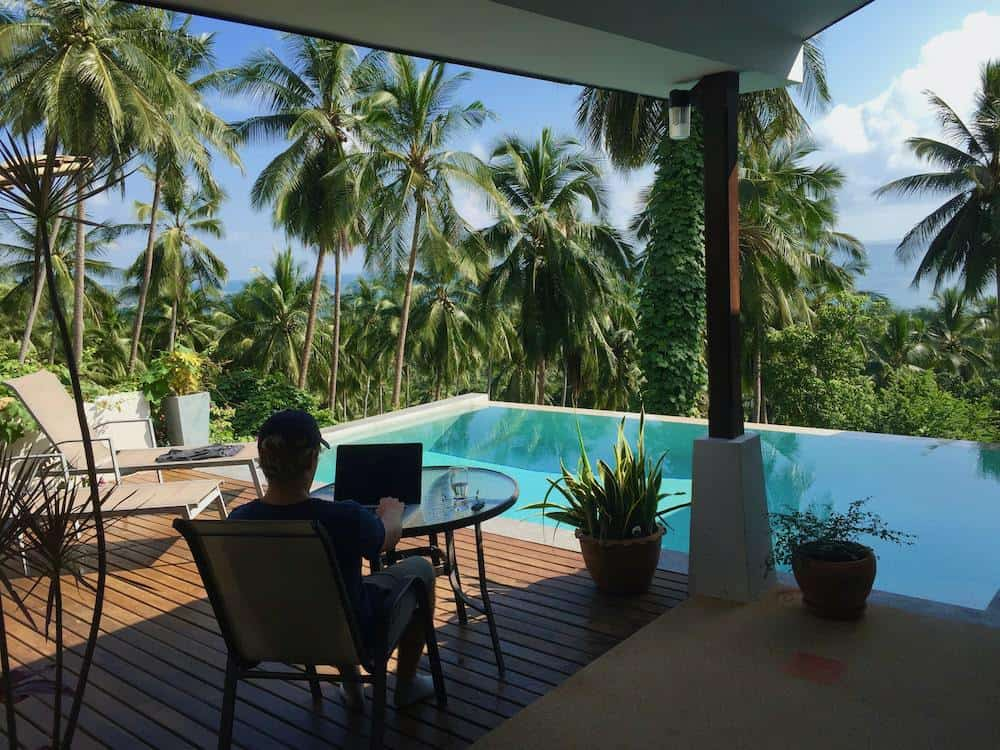 working on my affiliate projects from Thailand